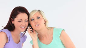 Young women with a phone Royalty Free Stock Photo