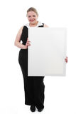 Young Women With Placard Stock Photos