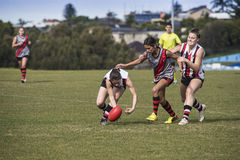 Young women play Australian Rules Football Stock Photography