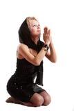 Young women praying stock photos