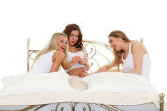 Young women with pregnancy test. Stock Photo