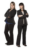 Young women in professional attire Royalty Free Stock Photo