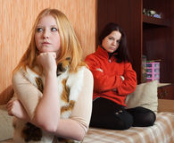 Young women after quarrel Stock Photography