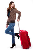 Young women ready for travel Royalty Free Stock Photography