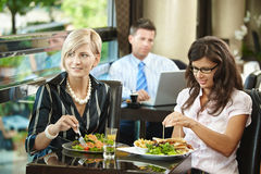 Young women in restaurant Stock Photography