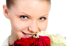 Young women with rose Stock Photo