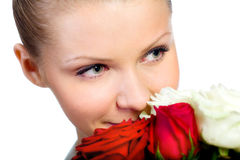 Young women with rose Royalty Free Stock Photography