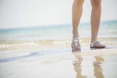Young women sandals Stock Image