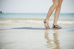 Young women sandals Royalty Free Stock Photo
