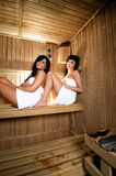 Young Women in sauna Royalty Free Stock Photography