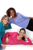 Young women sharing a flat Royalty Free Stock Photography