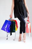Young women shopping Royalty Free Stock Photo