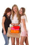 Young women shopping Stock Photo
