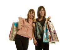 Young women shopping Stock Image