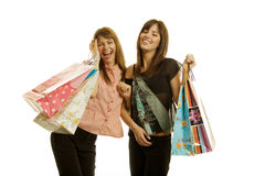 Young women shopping Royalty Free Stock Image