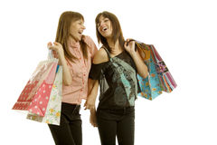Young women shopping Royalty Free Stock Photography