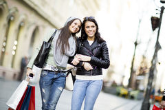 Young women in shopping Royalty Free Stock Images