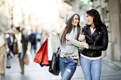 Young women in shopping Royalty Free Stock Photography