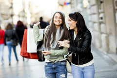 Young women in shopping Royalty Free Stock Image