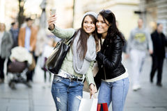 Young women in shopping Royalty Free Stock Photo