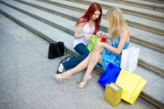 Young Women Shopping Stock Image