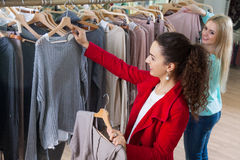 Young women shopping jersey Stock Photo