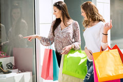 Young women in the shopping Royalty Free Stock Images