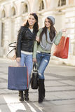 Young women in shopping Stock Image