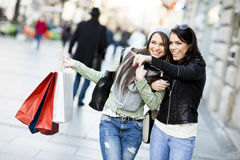 Young women in the shopping Stock Image