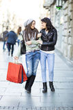 Young women in the shopping Royalty Free Stock Photos
