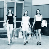 Young women after shopping Royalty Free Stock Image