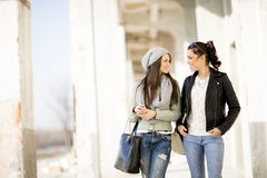 Young women in the shopping Royalty Free Stock Photo