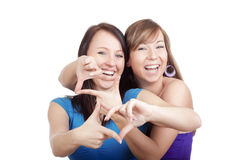 Young women smiling Stock Images