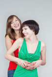 Young women smiling Stock Photography