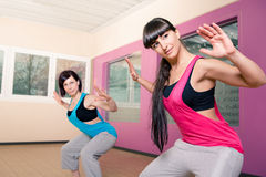 Gym room girl Royalty Free Stock Photo