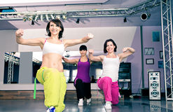 Aerobics girls Stock Images