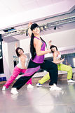 Aerobics girls Stock Photo
