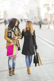Young women on the street Stock Images