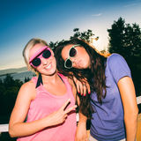 Young women in Summer outfits Royalty Free Stock Photography