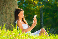 Young women with tablet pc Royalty Free Stock Photo