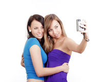 Young women taking picture Stock Photo