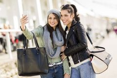 Young women taking selfie Royalty Free Stock Photo
