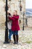 Young Women Taking Selfie stock photos