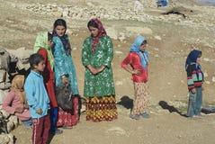 Young women talk circa Isfahan, Iran. Stock Photos