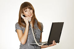 Young women talking on cellular phone Stock Image
