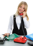 Young women, talking on phone Royalty Free Stock Image