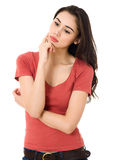Young women thinking Royalty Free Stock Image