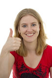 Young women with thumbs up Royalty Free Stock Photo