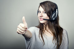 Young Women Thumbs Up Royalty Free Stock Image