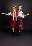 Young women in ukrainian clothes Stock Photo